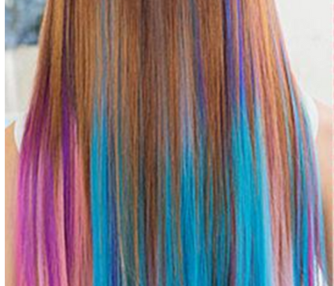 Bright Colors Clip-In Hair Extensions