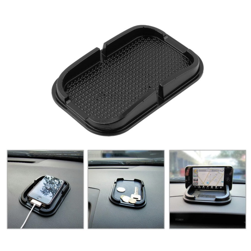 Black Car Dashboard Sticky Pad Mat Anti Non Slip Gadget Mobile Phone GPS Holder Stand Interior Items Accessories Smartphones