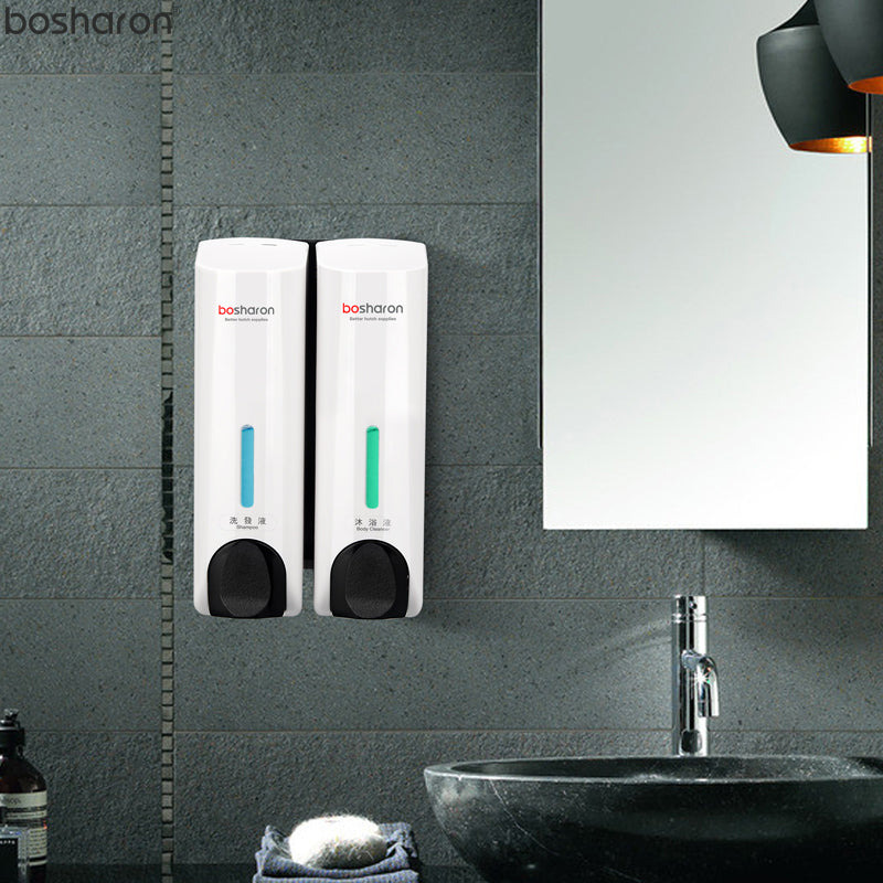 Dispenser For Liquid Soap Shampoo Detergent Wall Mounted Bottle Container Bathroom Accessories Application Home Kitchen Hotel