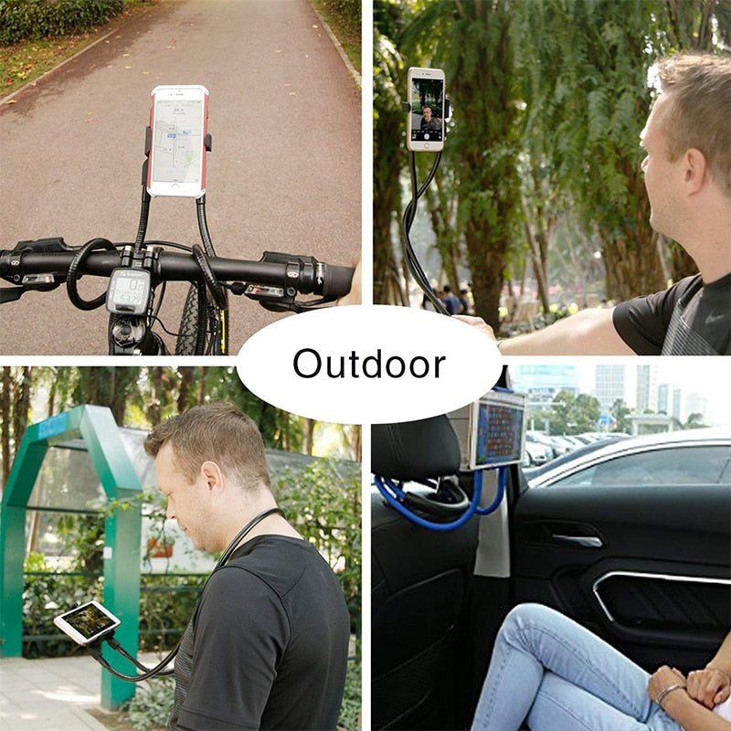 Lazy Neck Phone Holder Stand for iPhone Universal Cell Phone Desk Mount Bracket for Samsung Xiaomi Flexible Phone Holder