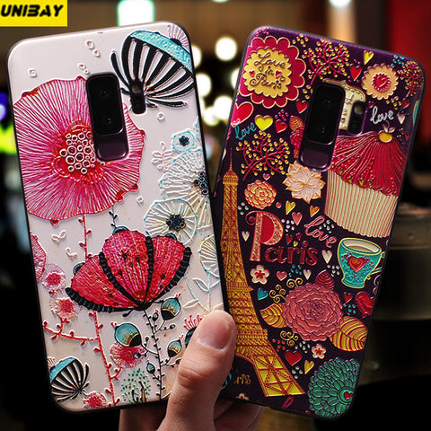 For Samsung Galaxy S9 Case 3d relief embossed high quality s9 plus Cover Popular Silicon Matte Case FOR Galaxy s9 pLUS Cover