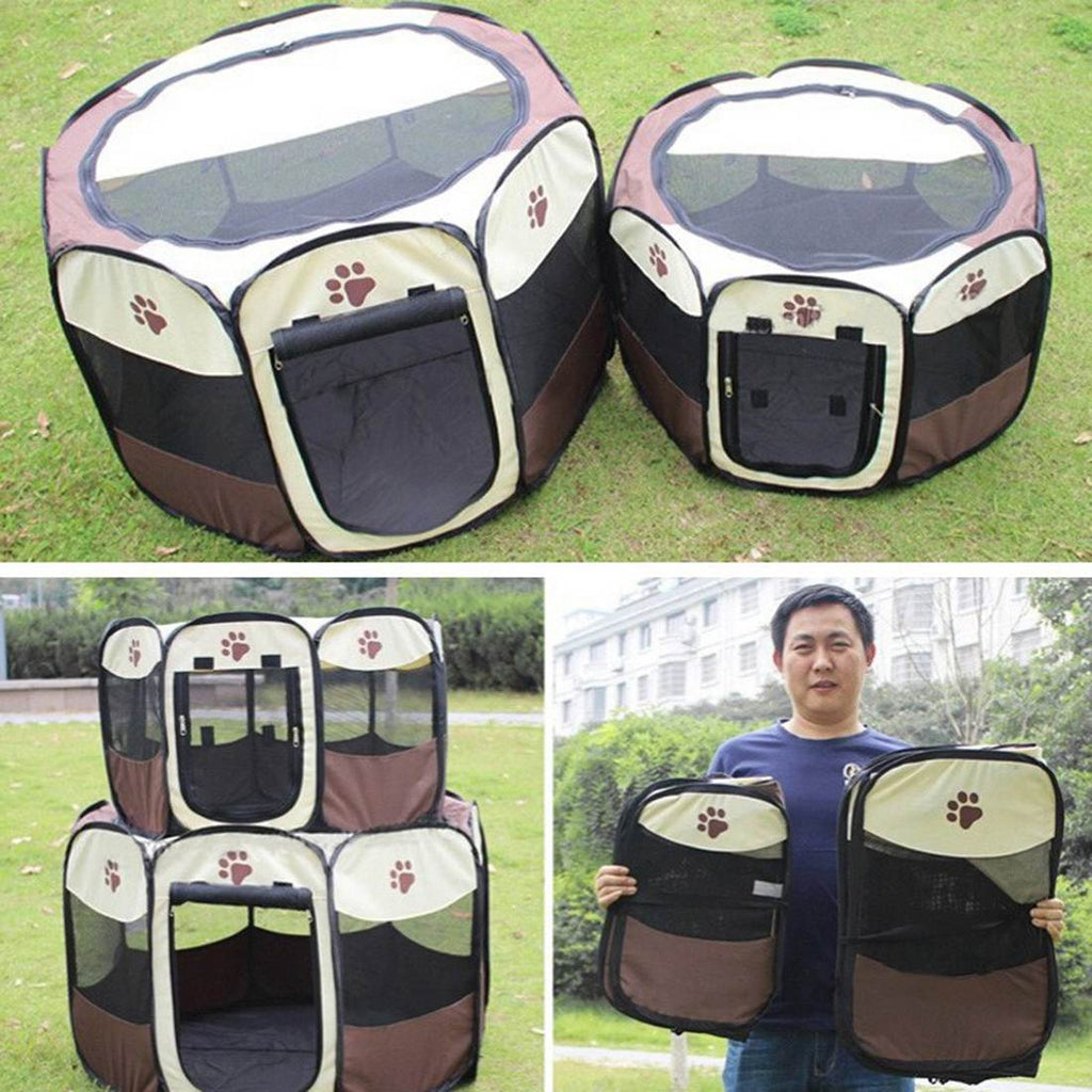 Hot Sale!!! Folding Pet Cage Fence Dog Kennel Puppy Soft Playpen Exercise House Dog Supplies Pet Products