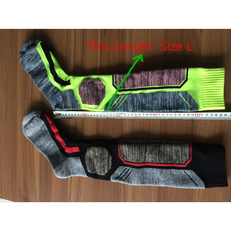 Winter Warm Men Women Thermal Long Ski Socks Thicker Cotton Sports Snowboard Climbing Camping Hiking  Socks 1704001