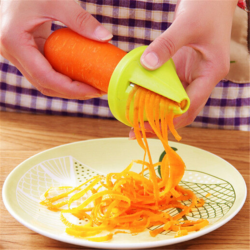 Kitchen Tools Accessories Gadget Funnel Model Spiral Slicer Vegetable Shred Device Cooking Salad Carrot Radish Cutter 1pcs JJ533
