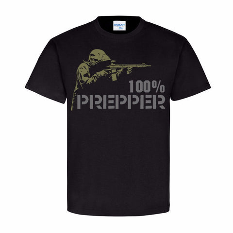 Men's T Shirt Summer 100% Cotton Casual Short Sleeve Tops Tee 100% Prepper Shooting Fashion T-Shirt Men's Clothing