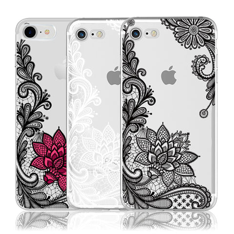 Lace Case For iPhone X 8 7 6 6S Plus 5 5S SE 5C 4 4S For  4 4A 3S 3 S 4X Note 3 4 Pro Prime 4X Mi A1 5X 5A