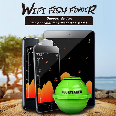 Wireless WIFI Fish Finder Sonar 50M/130ft Sea Fish Detect Finder For IOS Android Smart Fishfinder+Car Charger Pesca