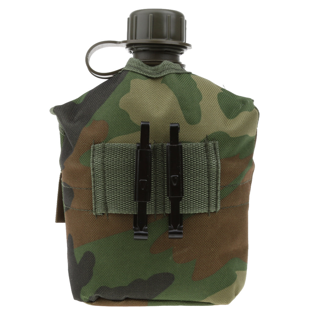 Outdoor 5 Colors 1L Military Camping Army Water Bottle Canteen Cup Pouch for Camping Hiking Desert Survival Climbing Accessories