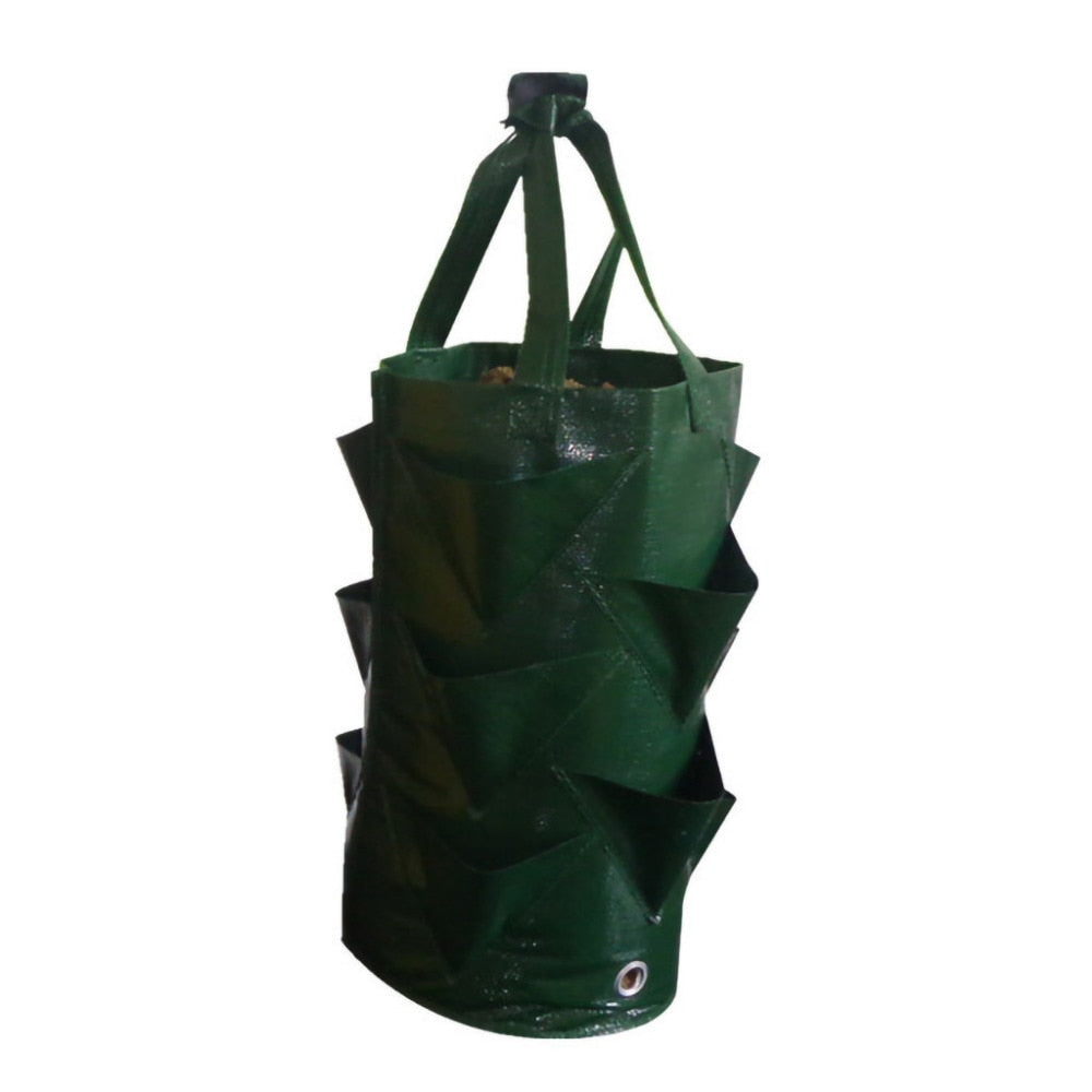 Strawberry Planting Growing Bag | 3 Gallons | Multi mouth Container Bags | Grow Planter Pouch | Garden Supplies | Grow Bags