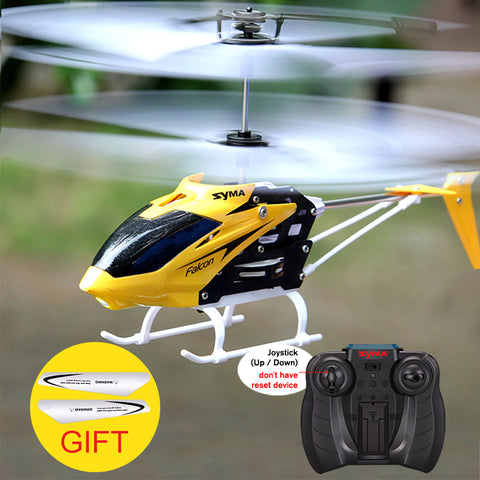 RC Helicopter 2 CH 2 Channel Mini RC Drone With Gyro Crash Resistant RC Toy Gift Red Yellow