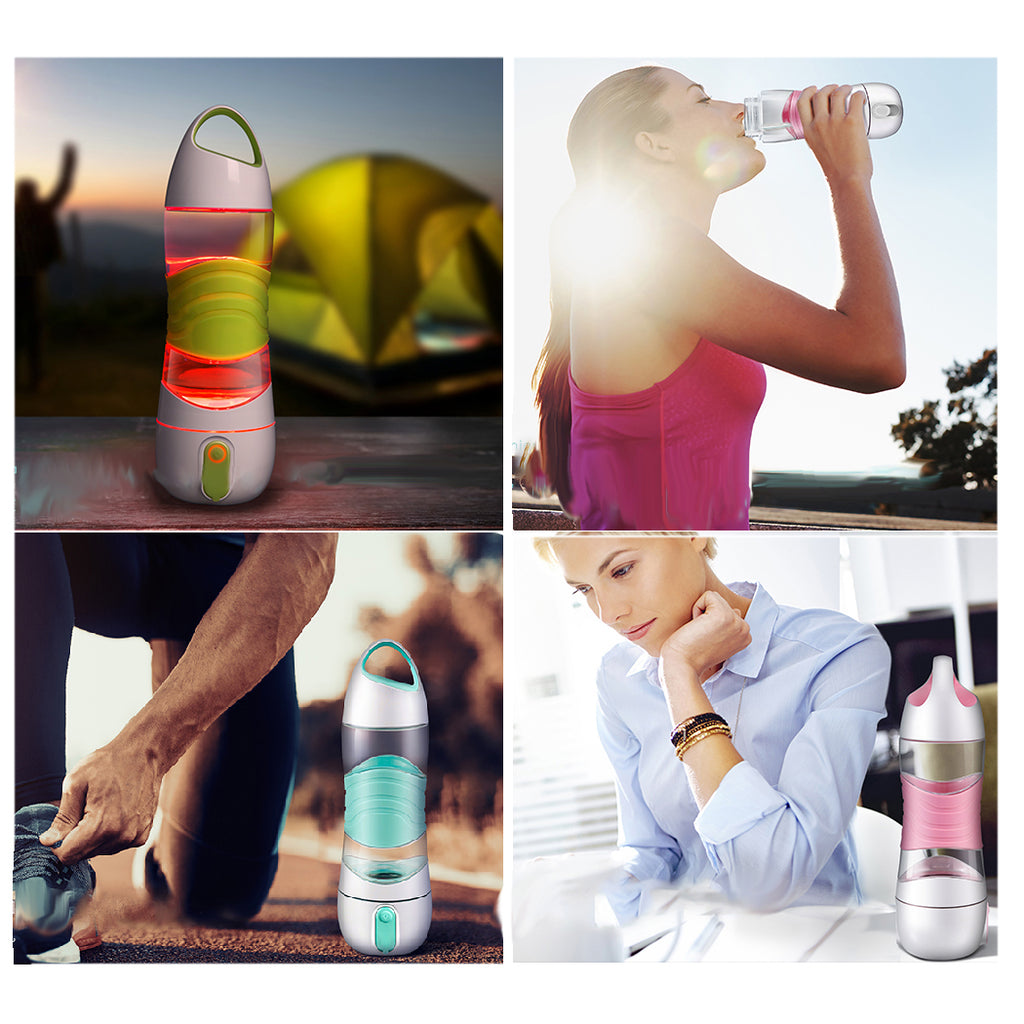 High quality Travel Water Bottle Intelligent Water Bottle LED Water Bottle with Timed Reminder Function and LED Lights