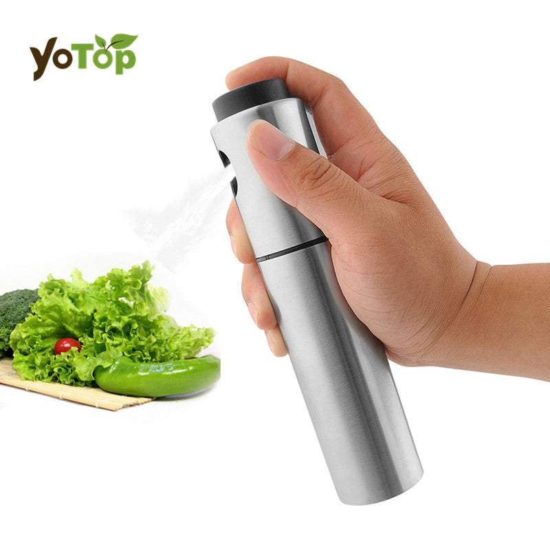 Stainless Steel Spray Pump Fine Mist Olive Pump Spray Bottle Oil Sprayer Pot Cooking Tool Barbecue