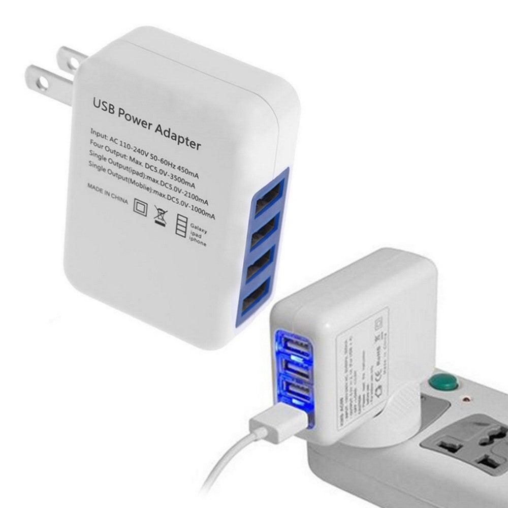 USB Wall Charger with 4 Ports
