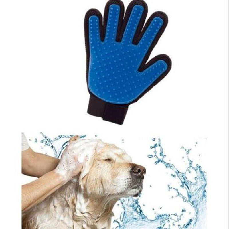 New Product Silicone True Touch Glove Deshedding Gentle Efficient Pet Grooming Dogs Bath Pet Supplies