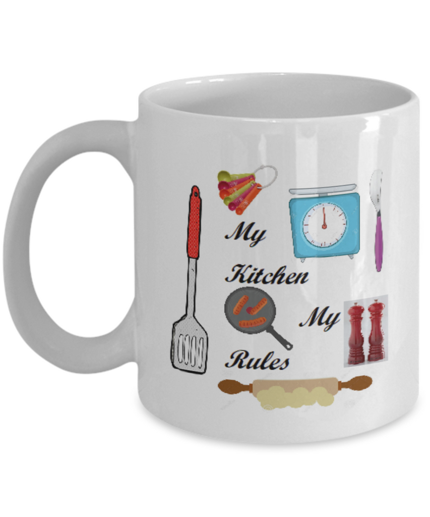 My Kitchen My Rules Coffee Mug