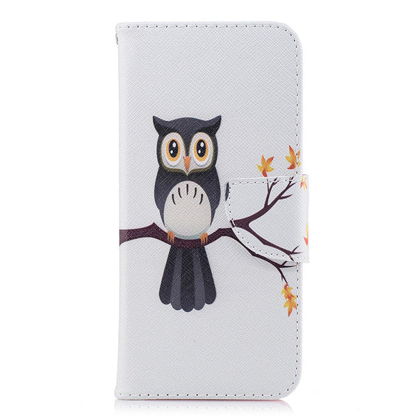 For Fundas Samsung galaxy S9 Case, Leather Case For Coque Samsung S9 Plus Case Cover Flip wallet Painted print Phone Cases