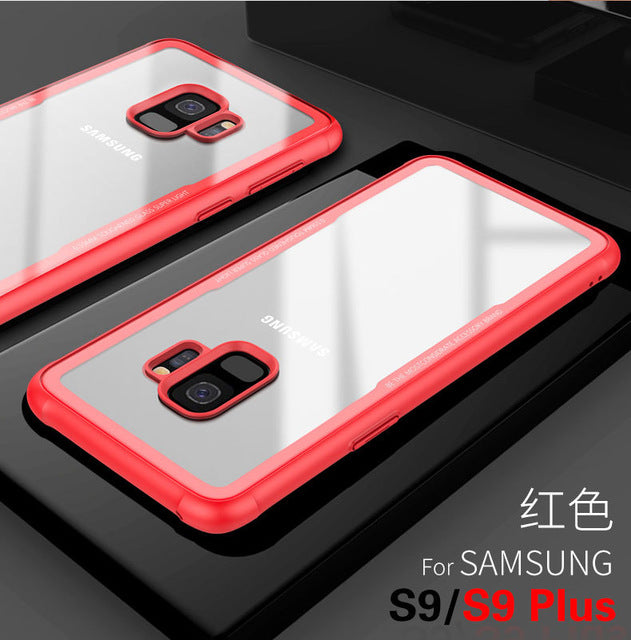 Tempered Glass Case For Samsung S9 Plus Case Back Cover Bumper On The for Samsung Galaxy S9 + Plus S9plus Soft TPU Clear Shell
