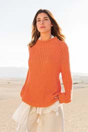 Casheta Wide Necked Ribbed Pullover LGLINEAP11-20