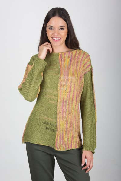 Recycled Linen & Ecopuno Sideways Drop St. Pullover 5700B