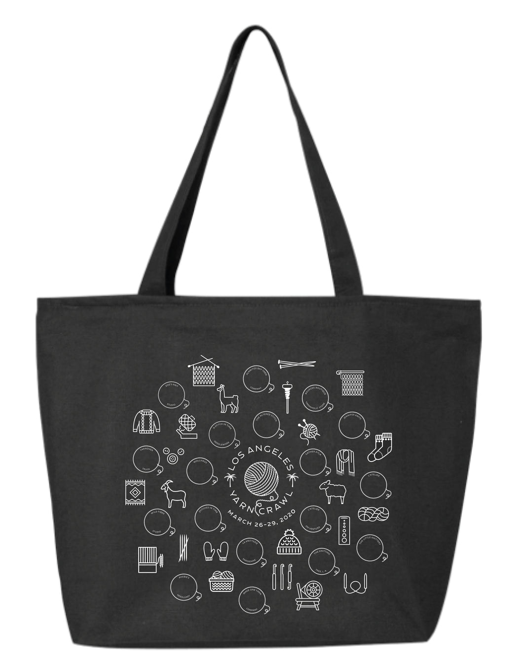 9th Annual LA Yarn Crawl Tote Bag
