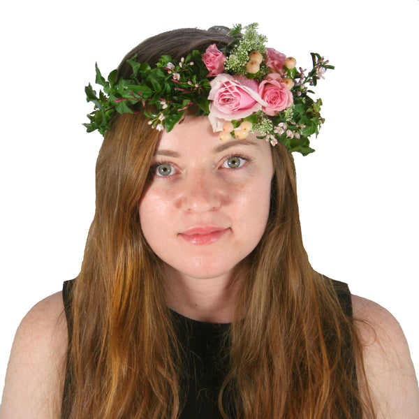 Ivy and Rose Fresh Floral Crown for delivery around Brisbane. 0d654d7ea83