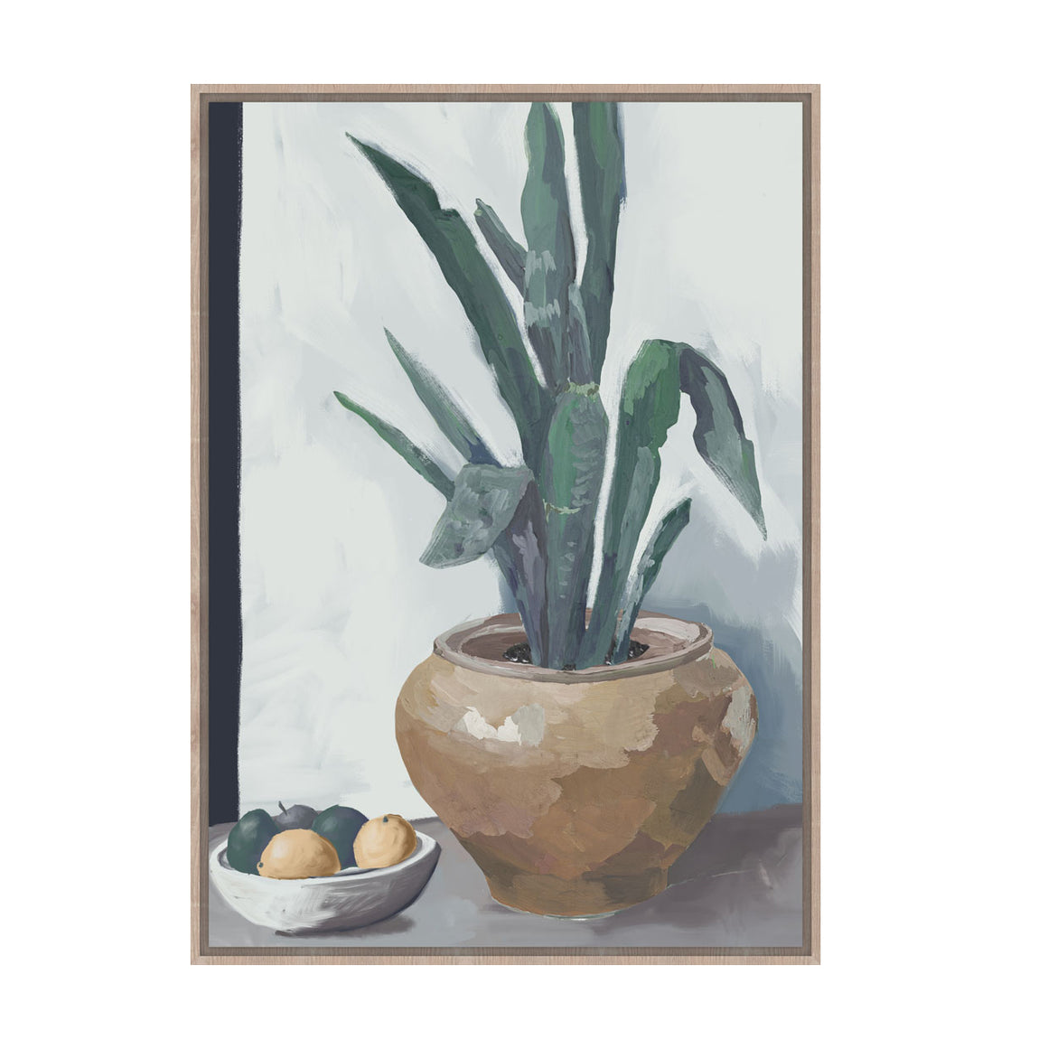 Plant with fruit still life framed