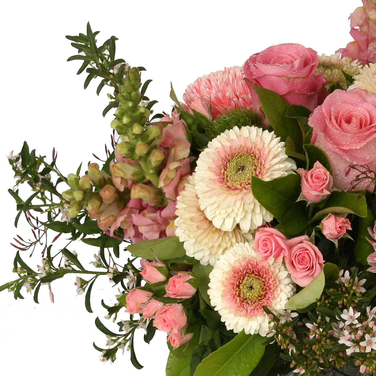 Florist brisbane same day flower delivery divine flowers wilston 40cmd pastel vase design close up of 30cmd pastel flower bouquet izmirmasajfo