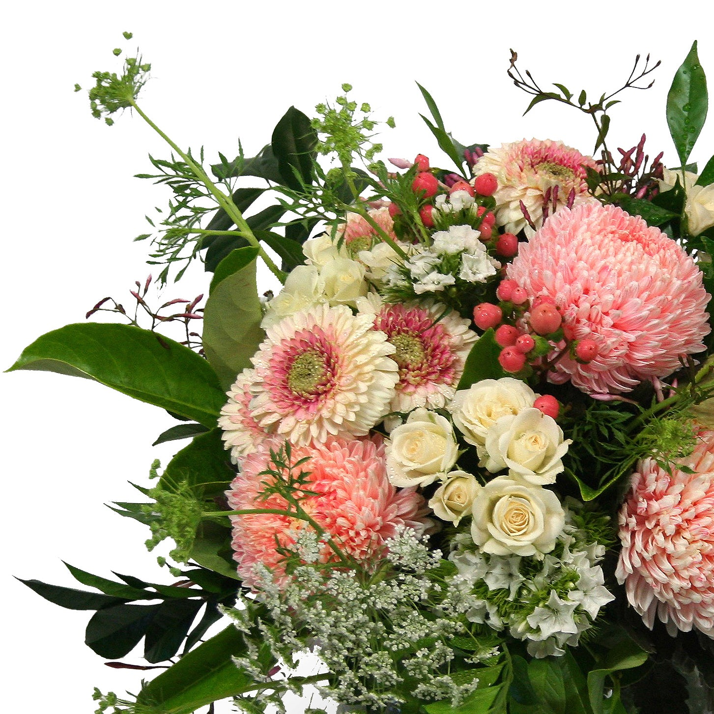 Florist brisbane same day flower delivery divine flowers wilston fresh seasonal flower bouquet in pastel colours designed into a glass vase divine flowers deliver izmirmasajfo