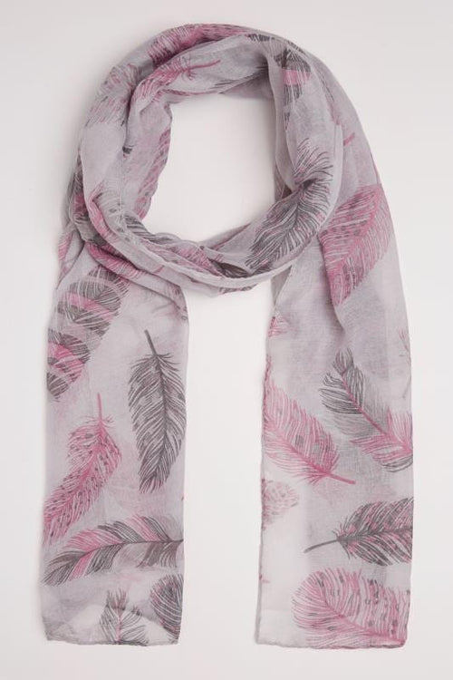"Pink ""Birds of a Feather"" Scarf"