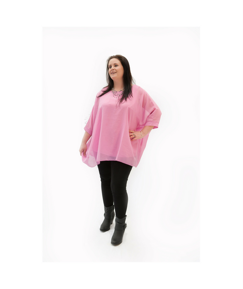 Pretty in Pink Batwing Top