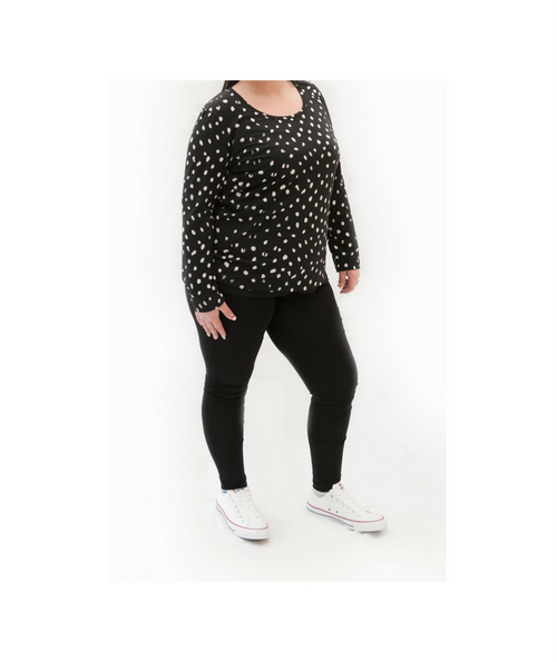 Basic Spotty Long Sleeve Top