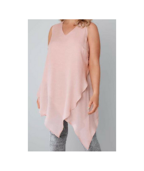 Natalie Blush Sleeveless Top