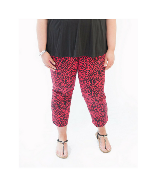 Red Madison 7/8 Pants