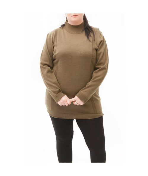 Fieldswoman Wool Blend Turtle Neck