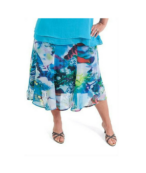 Prana 8-Gored Butterfly Creek Skirt