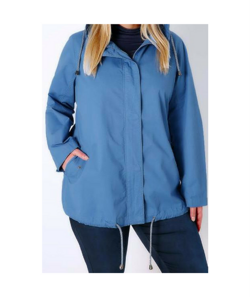Light Blue Hooded Jacket
