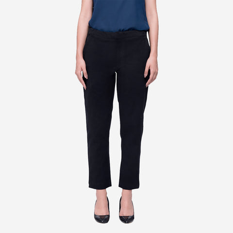 formal trousers for women officewear trousers workwear trousers for women ladies formal wear trousers work pants with elastic comfortable ankle length trousers for women ladies workwear ladies officewear ladies formal wear workwear pants for women shop online workwear pants in india straight trousers for women straight pants ankle length shop online online shopping india trousers for women ombre lane trousers with elastic on waist