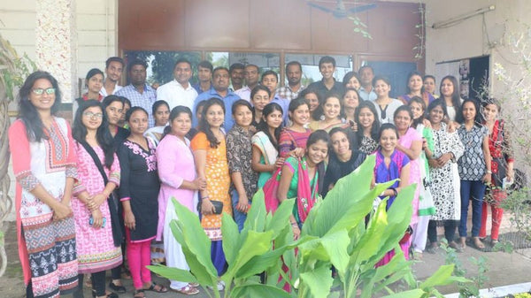 With the Beauty and Wellness team at Dhamatri, Chhattisgarh