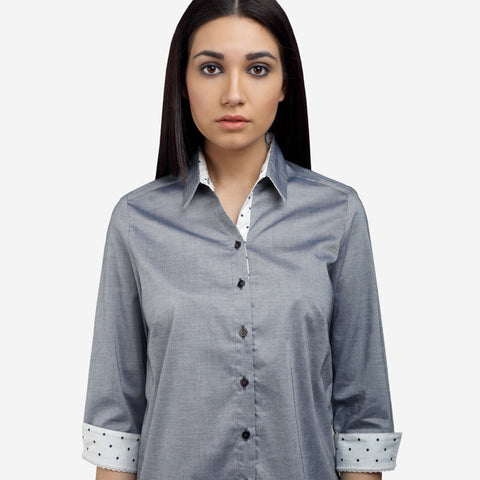 Steel Grey Giza Cotton Shirt formal shirts for women  formal shirts for women  no gape/no sheer shirts perfect shirt online luxury fabrics linen shirts cotton shirts for women white shirts for women luxury tops and shirts Designer Ladies' Shirts Online tailor fitted shirts online non-sheer white shirts Tailored Fits ladies shirts no gape shirts and tops button-down shirt striped shirts check shirts for women shirts and blouses business formal outfit women shirt  womens business shirts womens workwear online Shirt Formal shirt Formals Women's shirts Office wear Workwear women's fashion smart casual business casual semi formals formal shirts for women  formal white shirts for women cotton shirts for women premium shirts for  women work shirts for women premium essential clothing linen shirts tailor fitted shirts for women cotton shirts  georgette shirts fitted shirts relaxed fit shirts buy regular fit shirts online long shirts for women  formal shirt pattern shirt type tops for ladies branded formal shirts pastel shirts for women white shirt for women shirts for work ladies shirts for work womens best shirts for office  ladies shirts for office formal shirts for office shirt worn with bow tie bow tie shirts womens floral shirts ruffles shirt collar shirt for womens blue shirts printed shirts striped women's shirts semi formal shirts for women half sleeve shirts cuffed sleeve shirts black shirts for women black shirts casual shirts for women formal shirts design