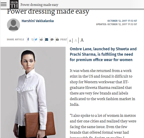 The Hindu - Power Dressing Made Easy