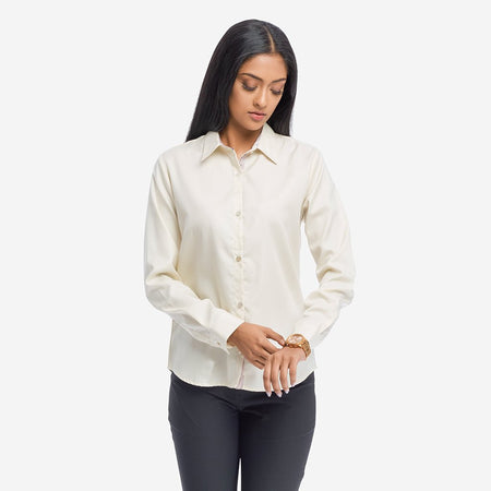 Daffodil Yellow Formal Shirt with Full Sleeves