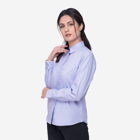 Lavender Cotton Regular Fit Formal Shirt