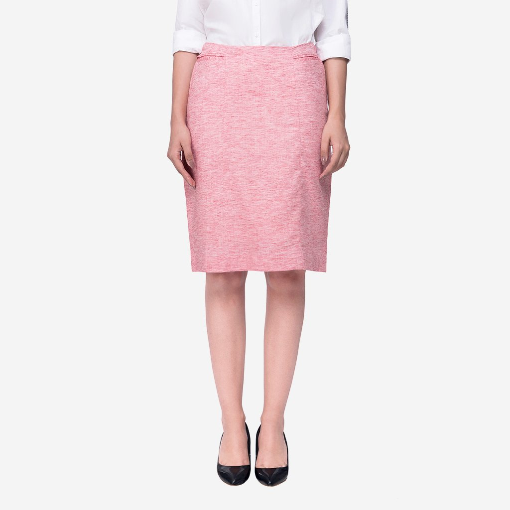 Work to Weekend Red Pencil Skirt