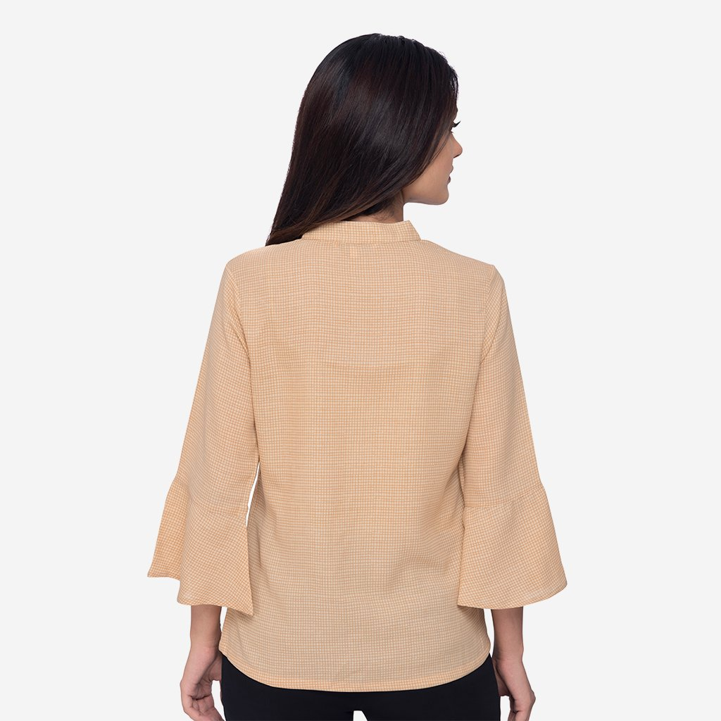 Easy Care Smart Casual Top Tan