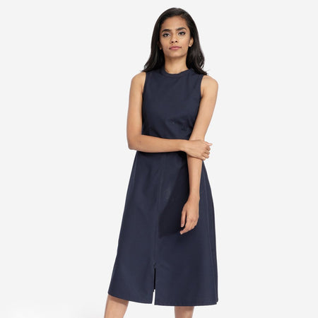 Navy Blue Flared Tunic-Dress