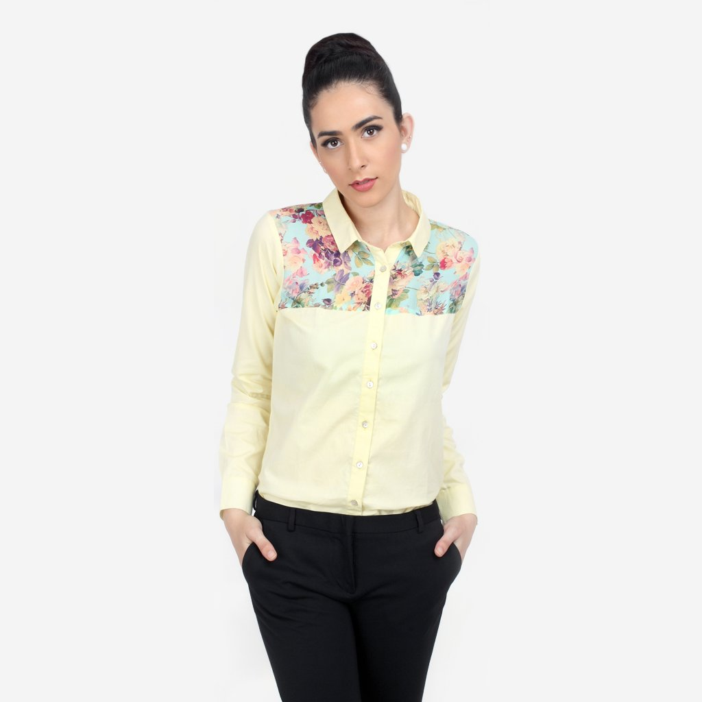 Cotton and Silk Formal Pastel Regular Fit Shirt