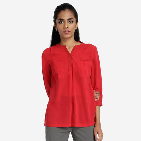 Crimson Red Smart Workwear Top