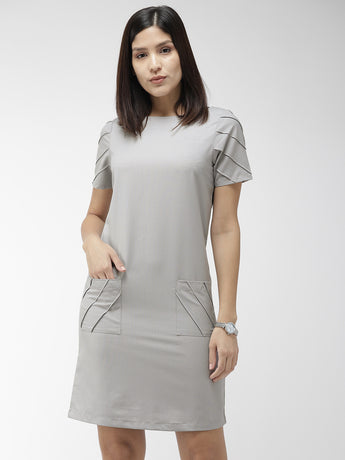 Graphite Grey Sheath Dress