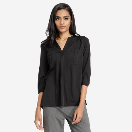Basic Black Daily Office Top