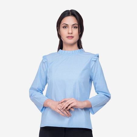 Women tops stylish western women top western wear cotton tops for women western wear plain tops for women blue cotton lace top
